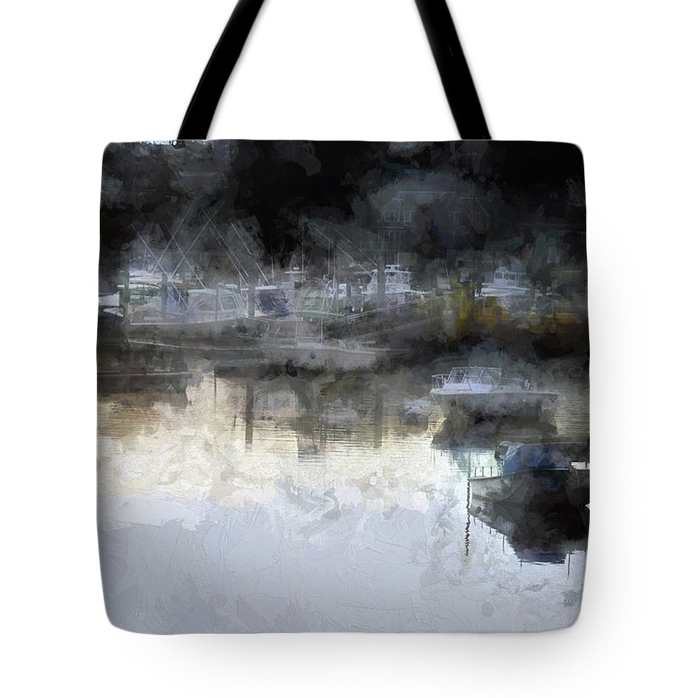 Tote Bag featuring the digital art Summer On Cape Cod Xxvi by Tina Baxter