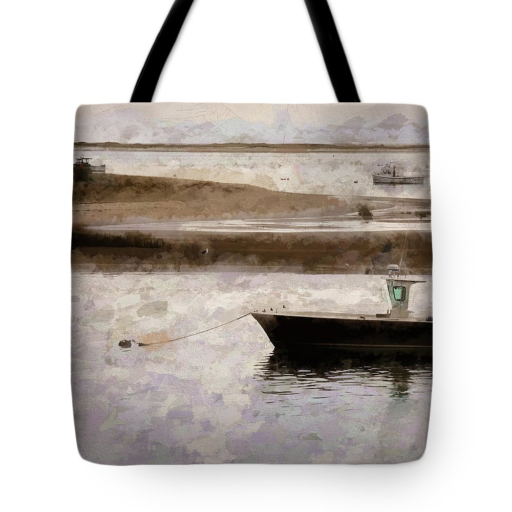 Tote Bag featuring the digital art Summer On Cape Cod Xxxiii by Tina Baxter