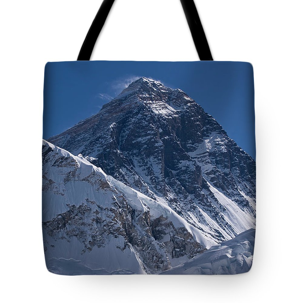 Scenics Tote Bag featuring the photograph Summit Of Mt Everest8850m Great Details by Diamirstudio