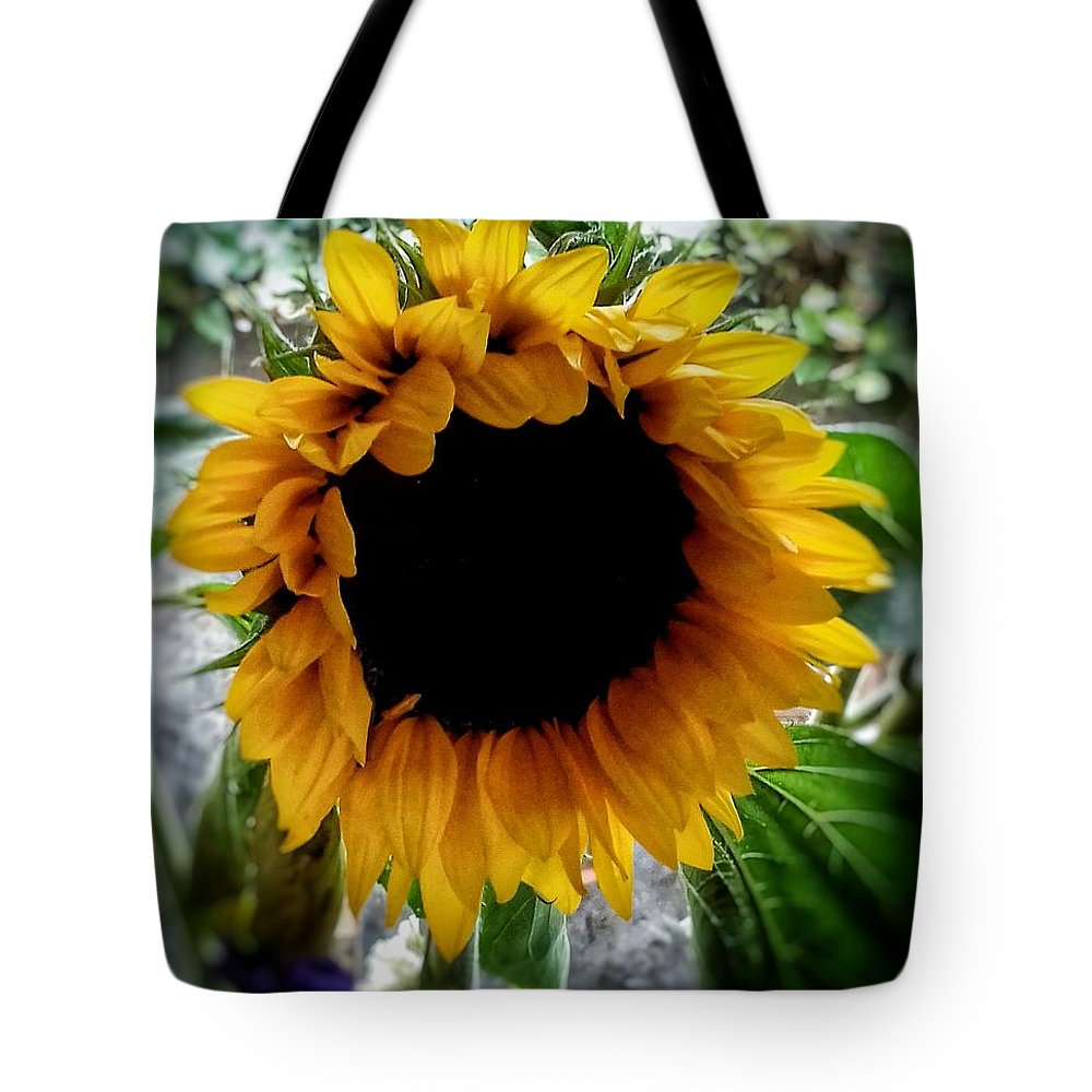 Sunflowers Tote Bag featuring the photograph Sunflower 2 by Joan-Violet Stretch