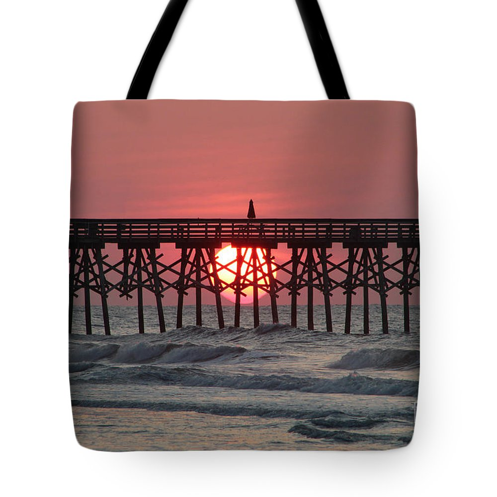 Sunrise Tote Bag featuring the photograph Sunrise Myrtle I by Melvin Jamison
