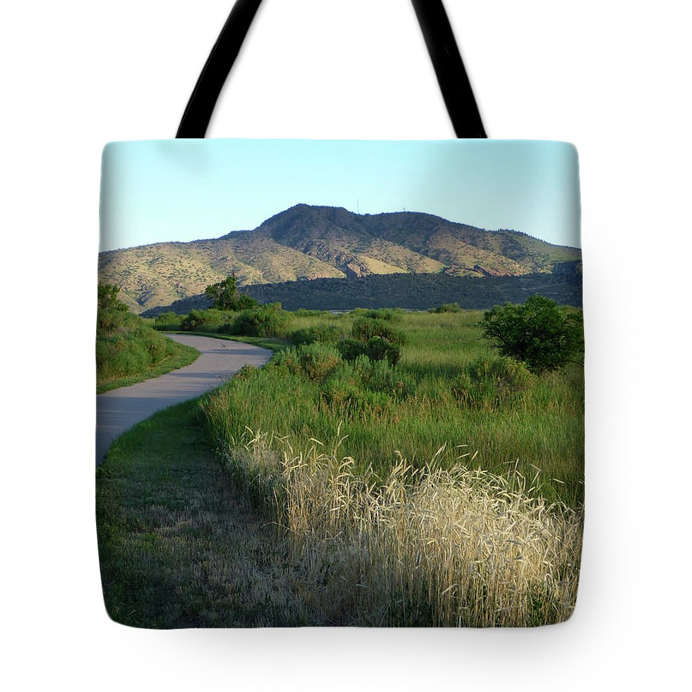 Outdoors Tote Bag featuring the photograph Sunrise Over State Park Grasslands And by Milehightraveler