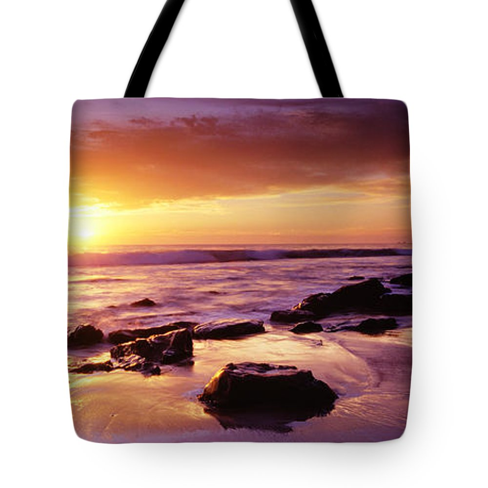 Scenics Tote Bag featuring the photograph Sunset At Laguna Beach by Jason v