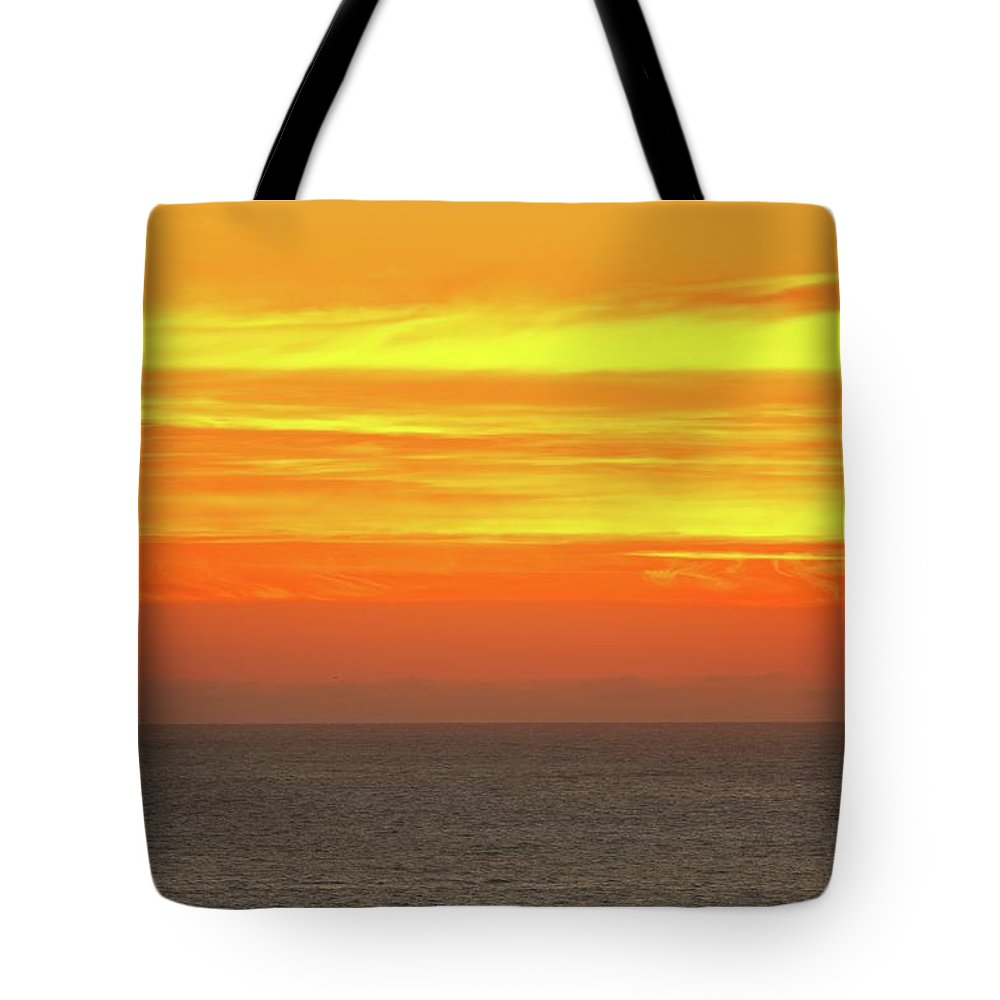 Sunset Tote Bag featuring the photograph Sunset At Westport by Bob Stevens