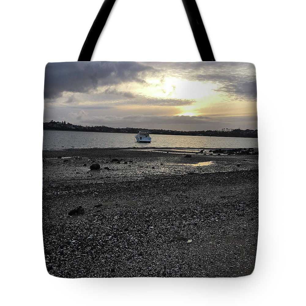 Beach Tote Bag featuring the photograph Sunset By Bucklands Beach by Wendy Leung
