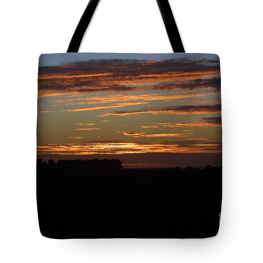 Sunset In Missouri Tote Bag featuring the photograph Sunset In Southern Missouri by Darren Dwayne Frazier