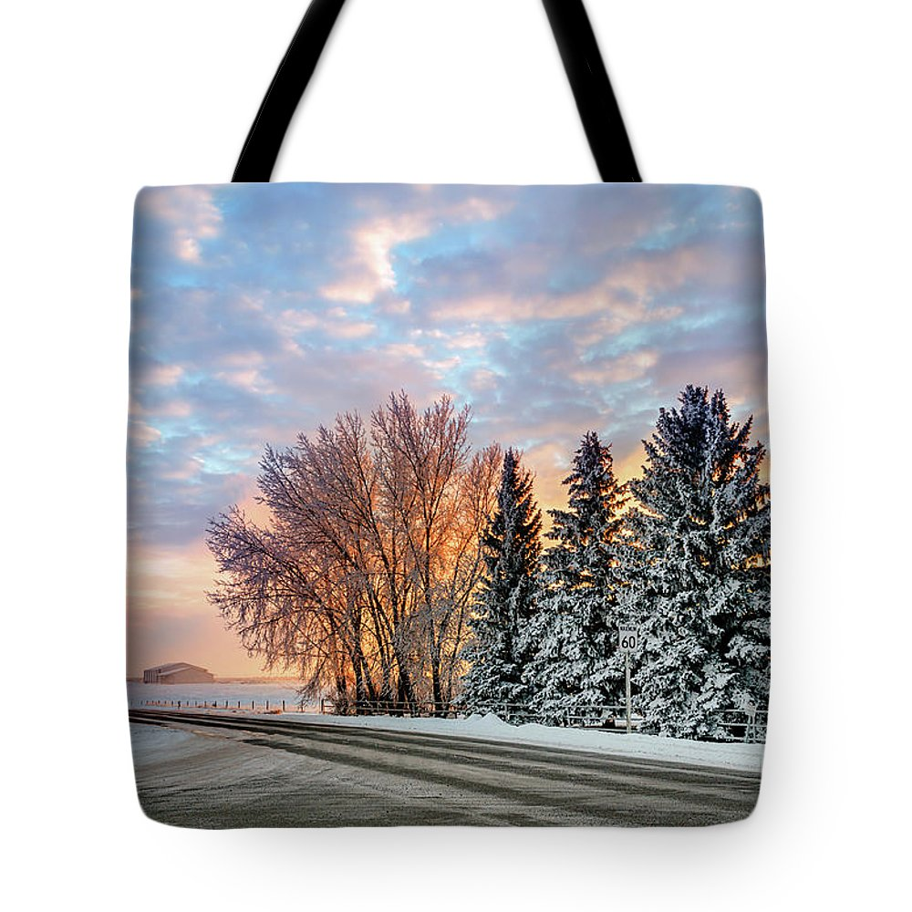 Winter Tote Bag featuring the photograph Sunset In Winter by Viktor Birkus