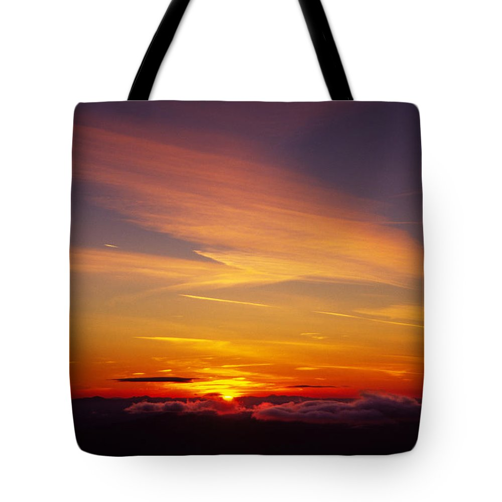 The End Tote Bag featuring the photograph Sunset Near Taos, New Mexico, Usa by Diane Miller