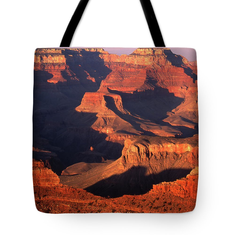 Toughness Tote Bag featuring the photograph Sunset Over Grand Canyon by By Tiina Gill