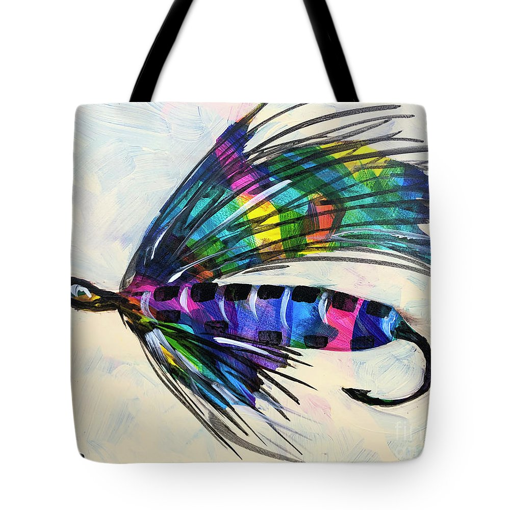 Colorado Artist Tracy Miller Tote Bag featuring the painting Super Fly I by Tracy Miller