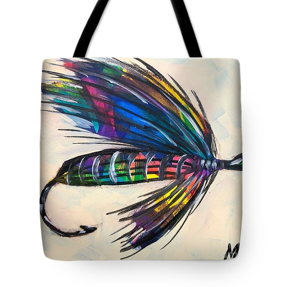 Colorado Artist Tracy Miller Tote Bag featuring the painting Super Fly II by Tracy Miller