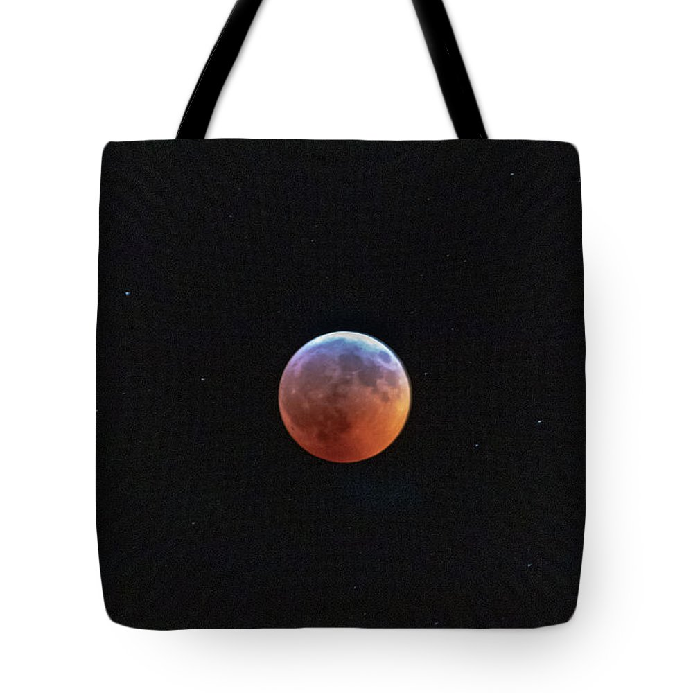 Moon Tote Bag featuring the photograph Super Moon Eclipse by Natural Vista Photo