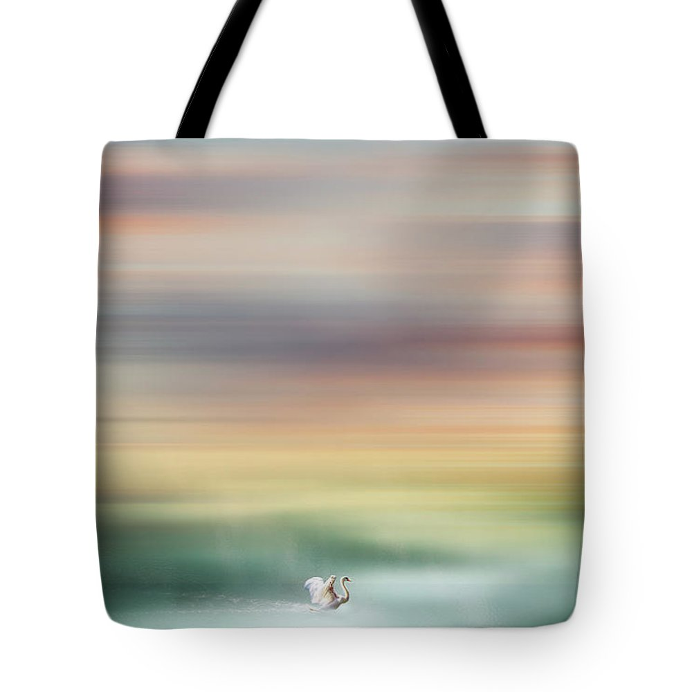 Swan Tote Bag featuring the photograph Swan by Jacky Gerritsen