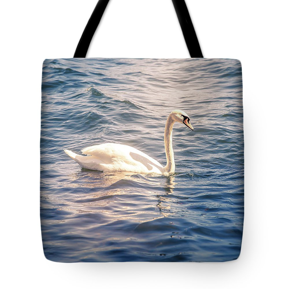 Swan Tote Bag featuring the photograph Swan by Nicklas Gustafsson