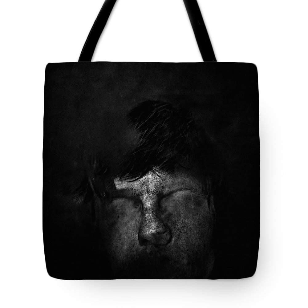 People Tote Bag featuring the photograph Sweden, Stockholm, Distorted Face by Win-initiative