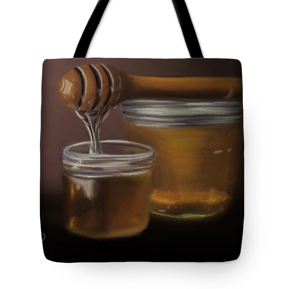 Tote Bag featuring the painting Sweet Honey by Fe Jones