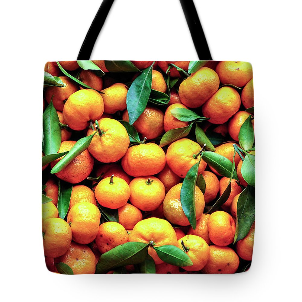 Orange Tote Bag featuring the photograph Sweet Oranges by Gabriel Perez