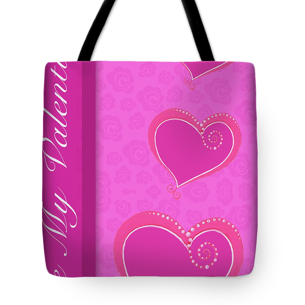 Sweet Tote Bag featuring the mixed media Sweet Pink Valentines IIi by Andi Metz