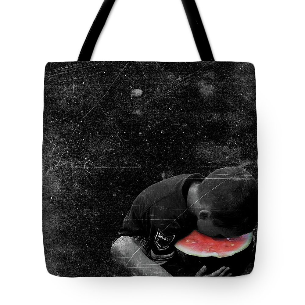 Boy Tote Bag featuring the digital art Sweet Tooth by Rick Wiles