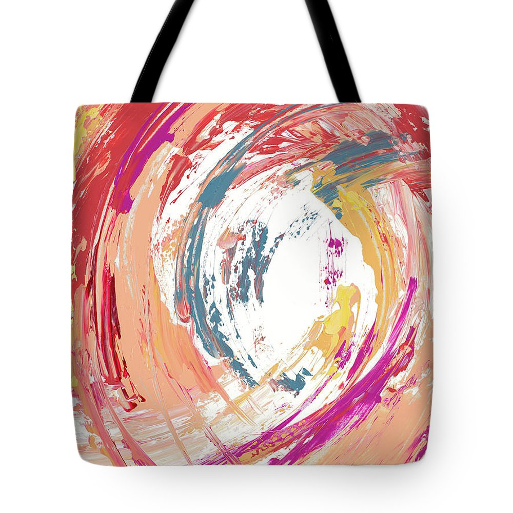 Swirling Tote Bag featuring the mixed media Swirling Dreams by Lanie Loreth