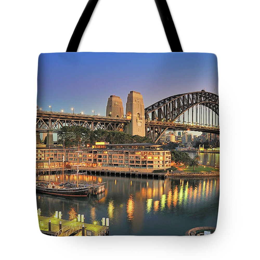 Built Structure Tote Bag featuring the photograph Sydney Harbour Bridge by Warwick Kent