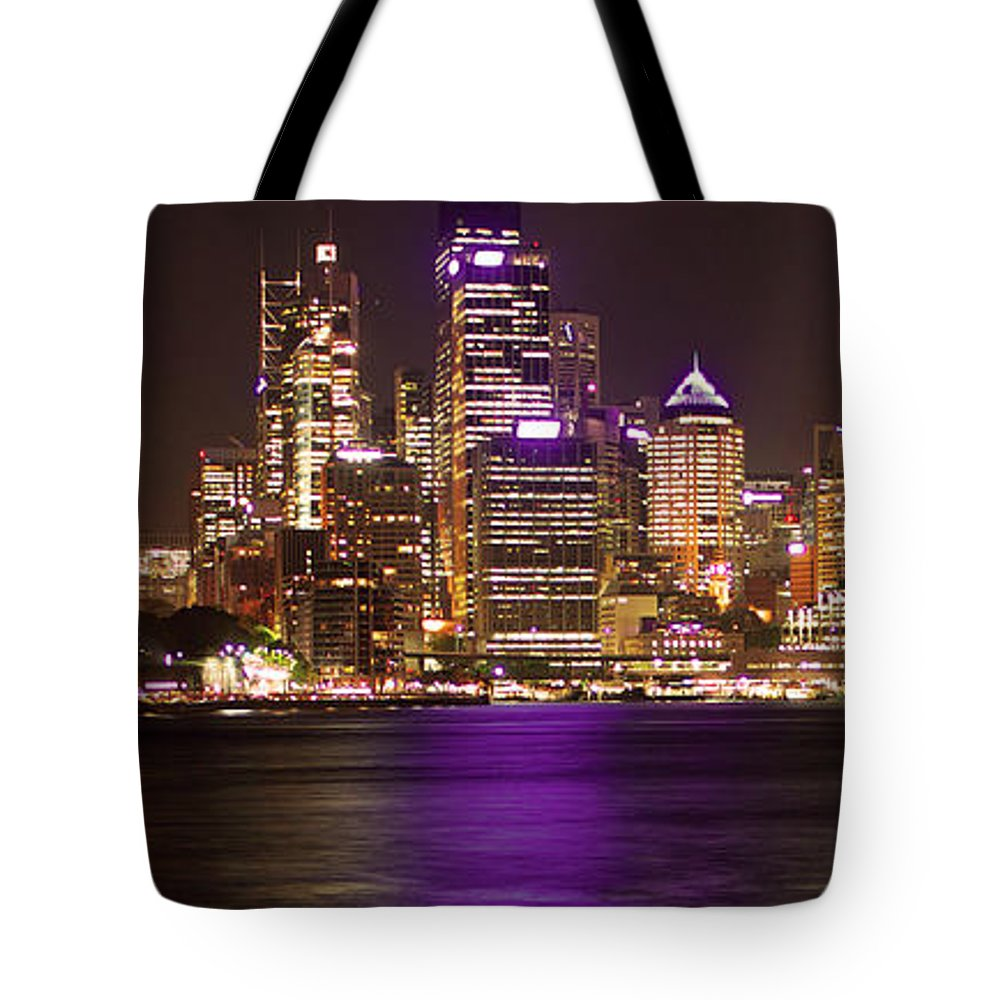 Panoramic Tote Bag featuring the photograph Sydney In Bronze by Capturing The Beauty Around Us, One Chapter At A Time...