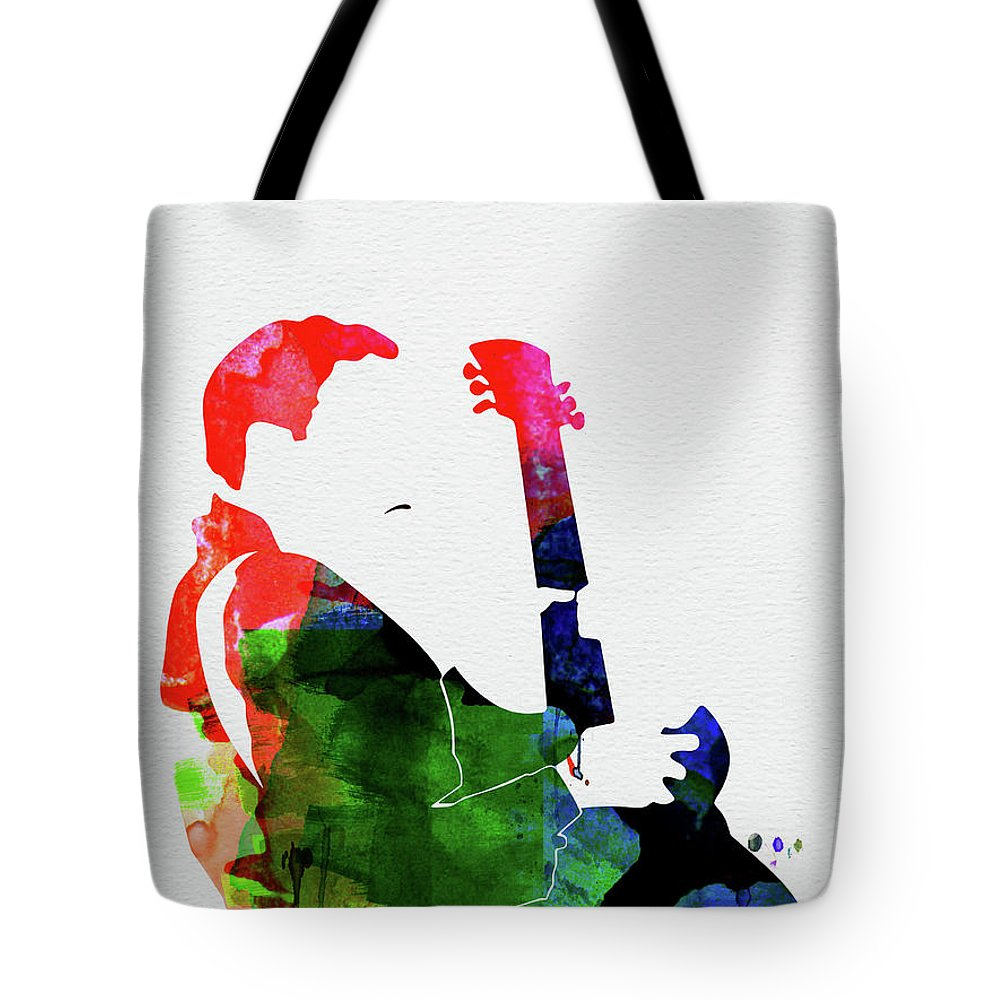 T-bone Walker Tote Bag featuring the mixed media T-bone Walker Watercolor by Naxart Studio