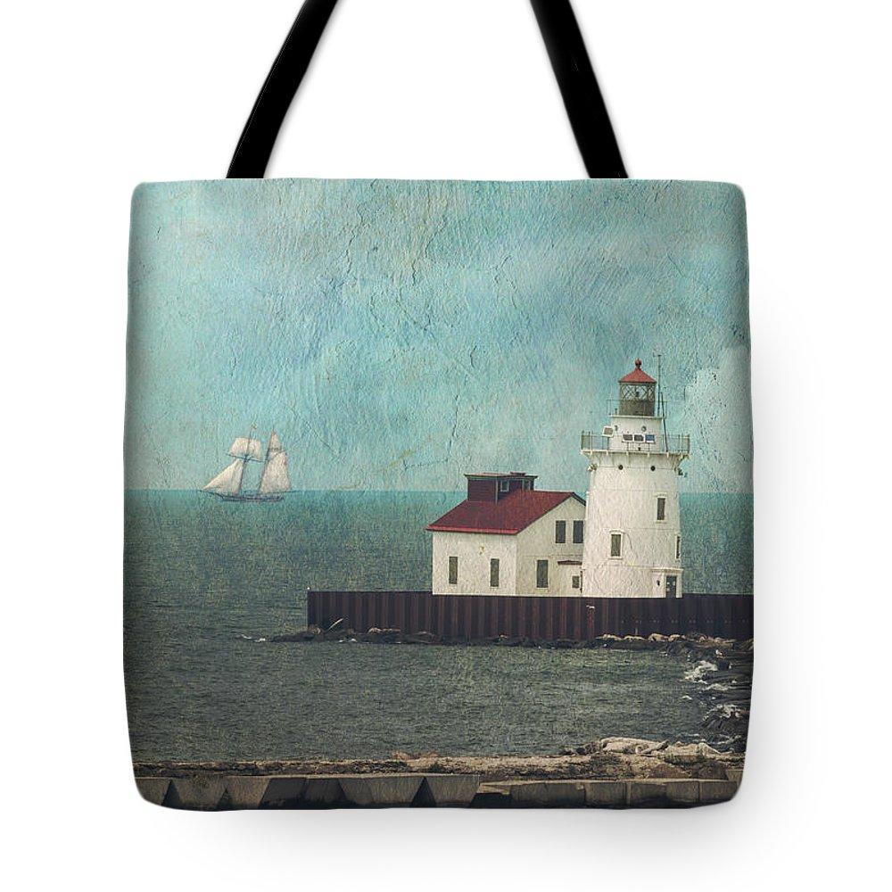 Cvnp. Peninsula Tote Bag featuring the photograph Tall Ships On Lake Erie by Matt Shiffler