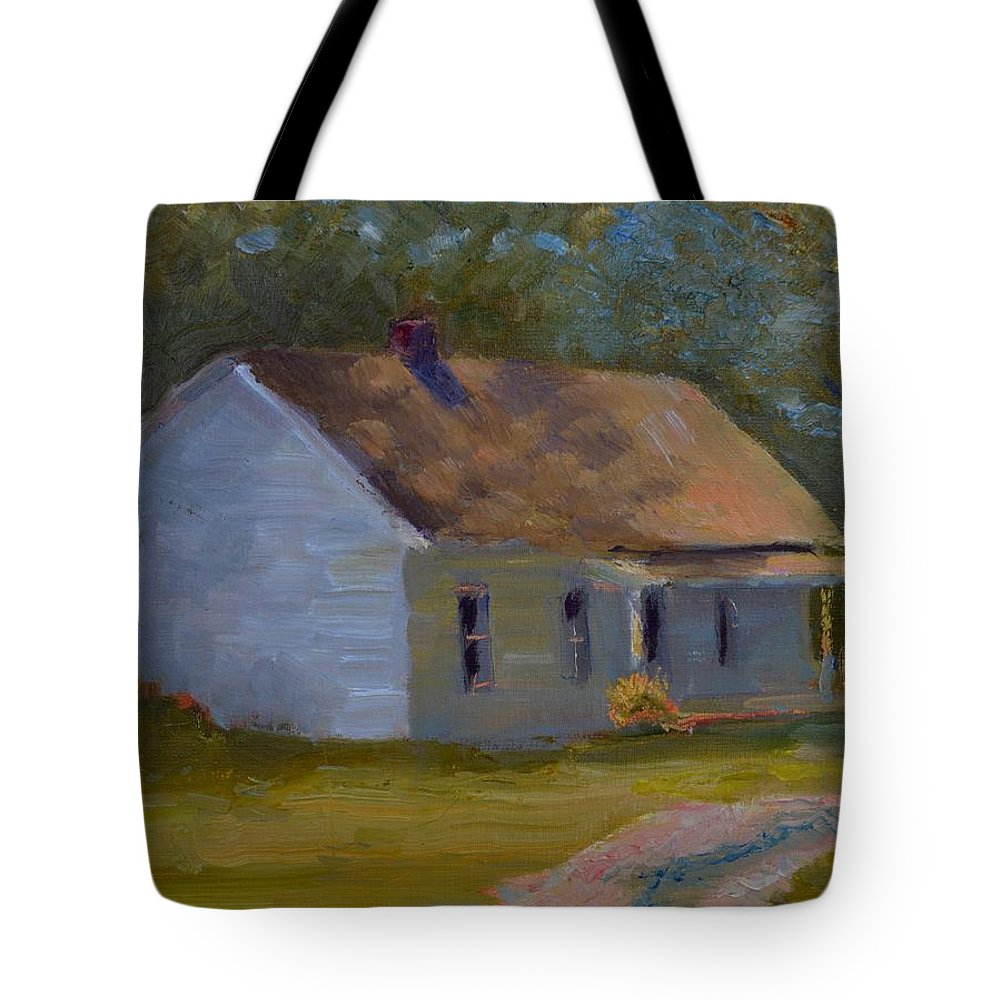 Kentucky Tote Bag featuring the painting Tay's Cottage by Roger Snell