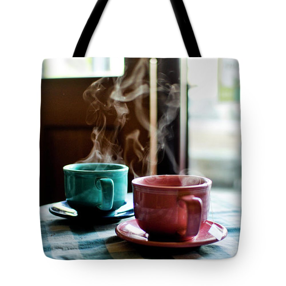 San Francisco Tote Bag featuring the photograph Tea For Two by Cindy Loughridge