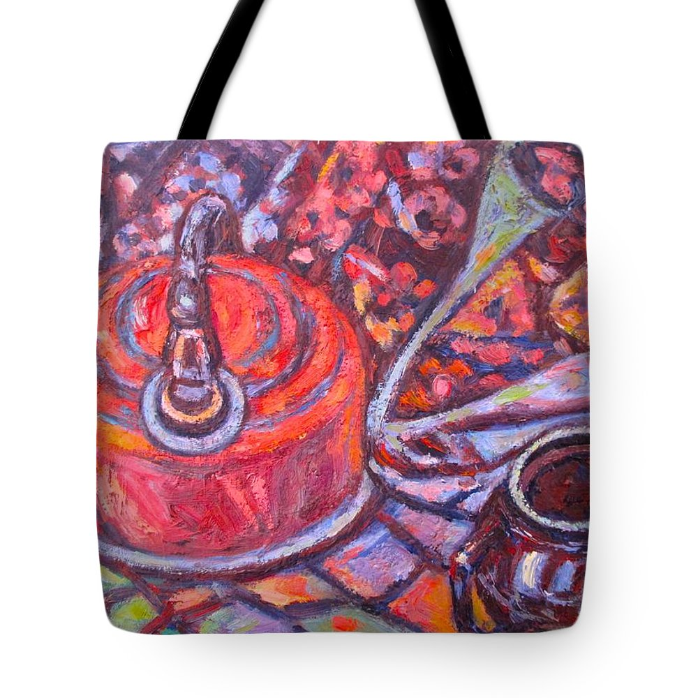 Still Life Tote Bag featuring the painting Tea Time by Kendall Kessler