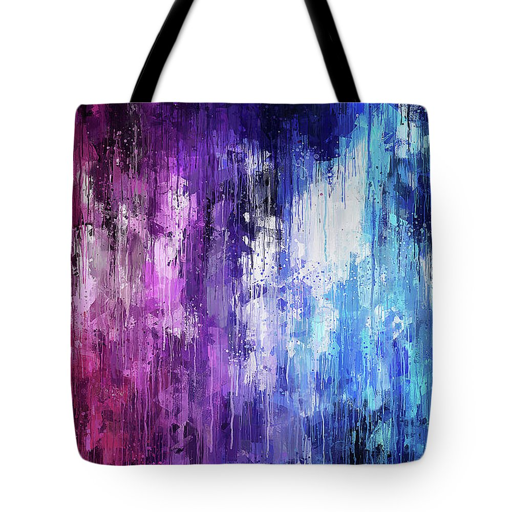Magenta Tote Bag featuring the painting Tears Of Sorrow by Andrea Mazzocchetti