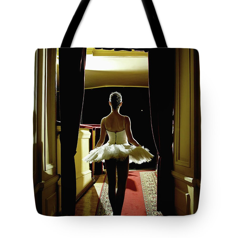 People Tote Bag featuring the photograph Teenage Ballerina 14-15 Waiting In by Hans Neleman