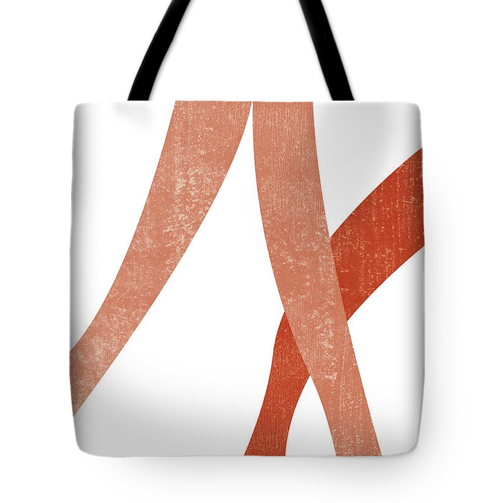 Terracotta Tote Bag featuring the mixed media Terracotta Art Print 4 - Terracotta Abstract - Modern, Minimal, Contemporary Print - Burnt Orange by Studio Grafiikka