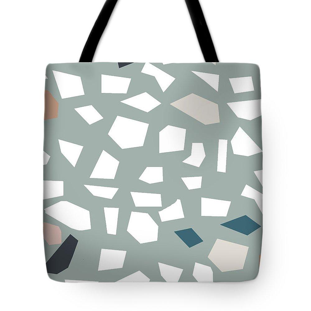 Terrazzo Tote Bag featuring the digital art Terrazzo 1- Art By Linda Woods by Linda Woods
