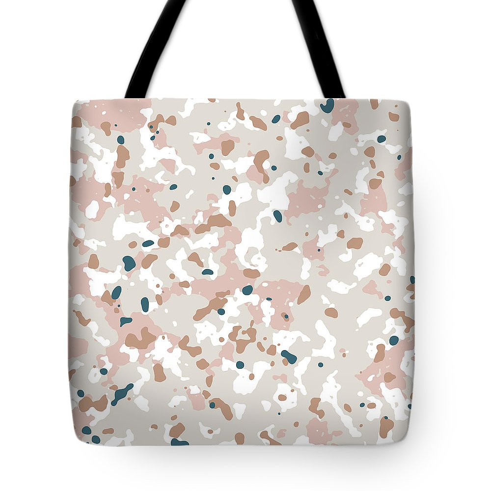 Terrazzo Tote Bag featuring the mixed media Terrazzo Splash 1- Art By Linda Woods by Linda Woods