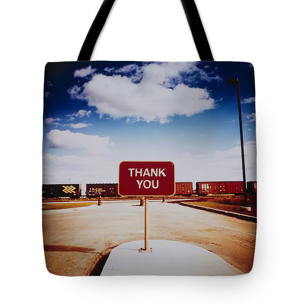 Thank You Tote Bag featuring the photograph Thank You Sign by Silvia Otte