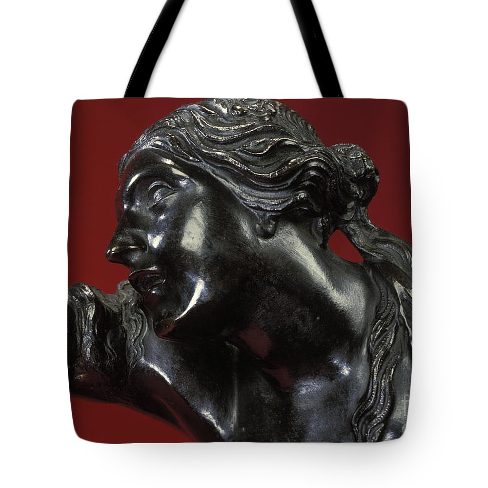 The Abduction Of Helen Tote Bag featuring the sculpture The Abduction Of Helen, 1683-86 Bronze by Pierre Puget
