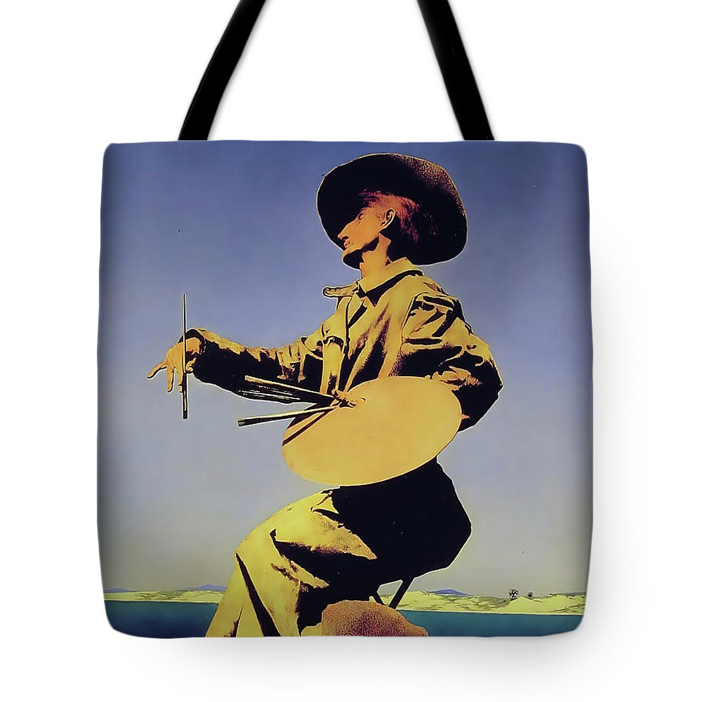 Maxfield Parrish Tote Bag featuring the photograph The Artist by Maxfield Parrish