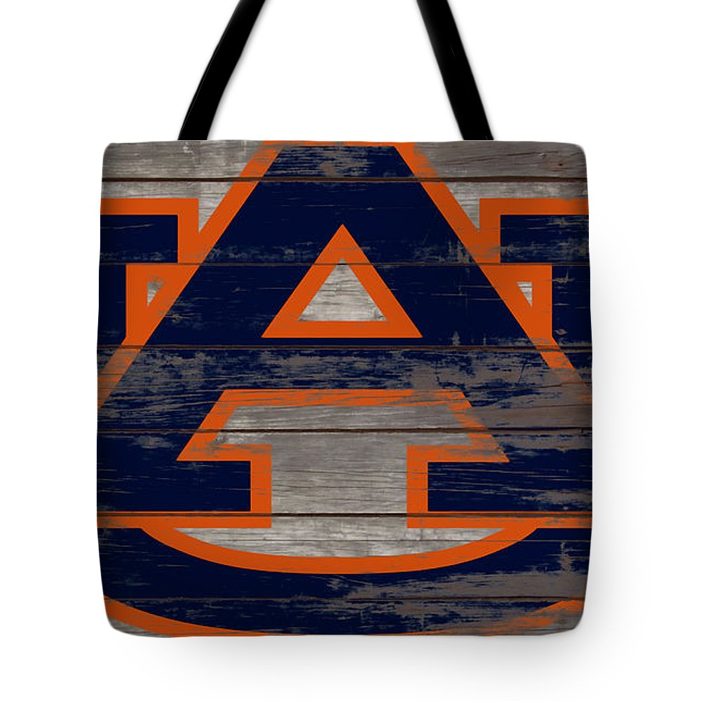 Auburn Tigers Tote Bag featuring the mixed media The Auburn Tigers 5a by Brian Reaves