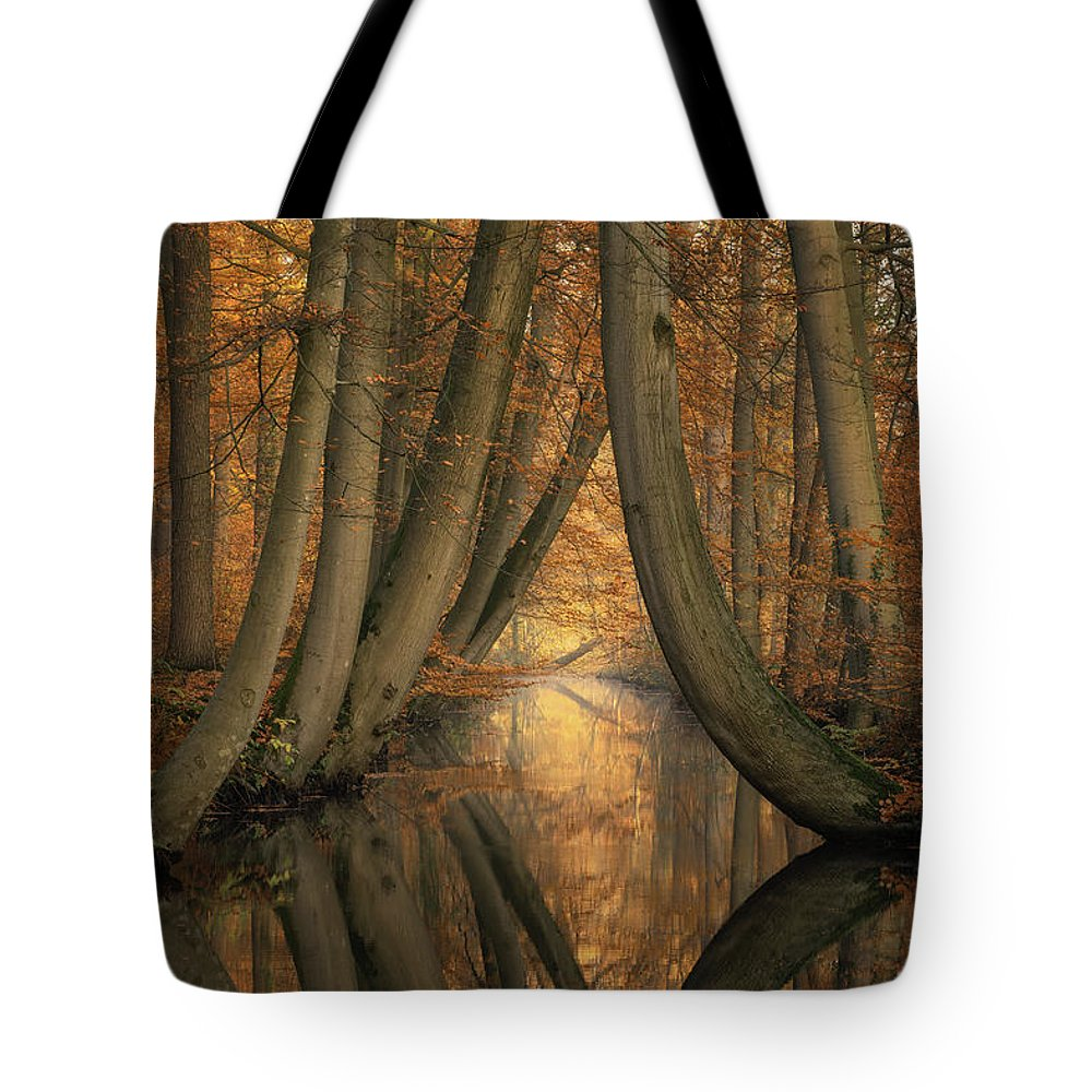 Trees Tote Bag featuring the photograph The Bent Ones by Martin Podt