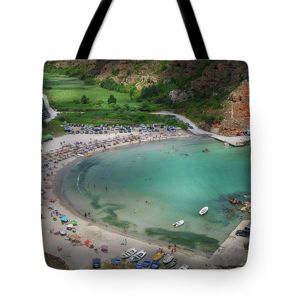 пейзаж Tote Bag featuring the photograph The Bolata Beach by Tihomir Dimitrov