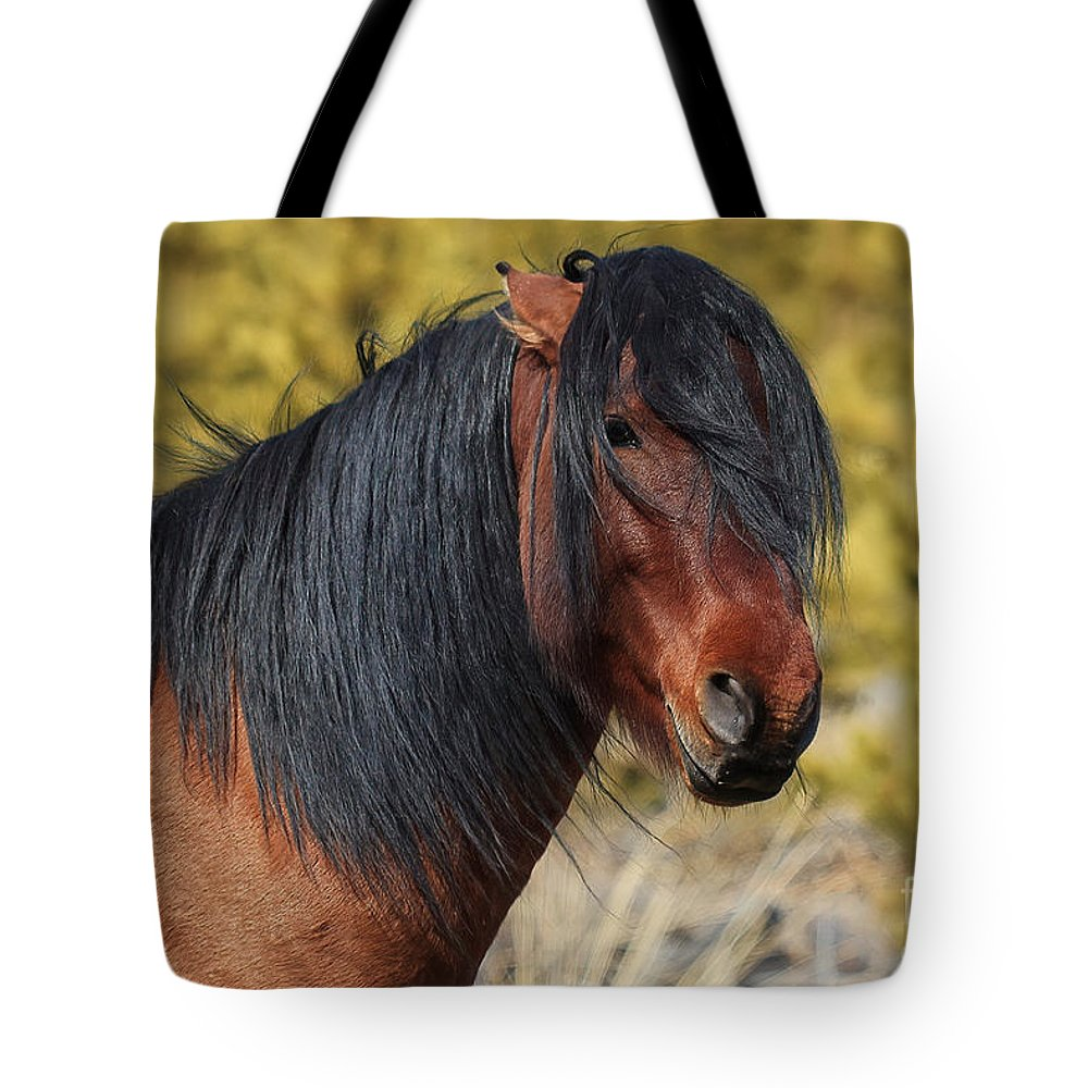 Horse Tote Bag featuring the photograph The Boss by James Anderson