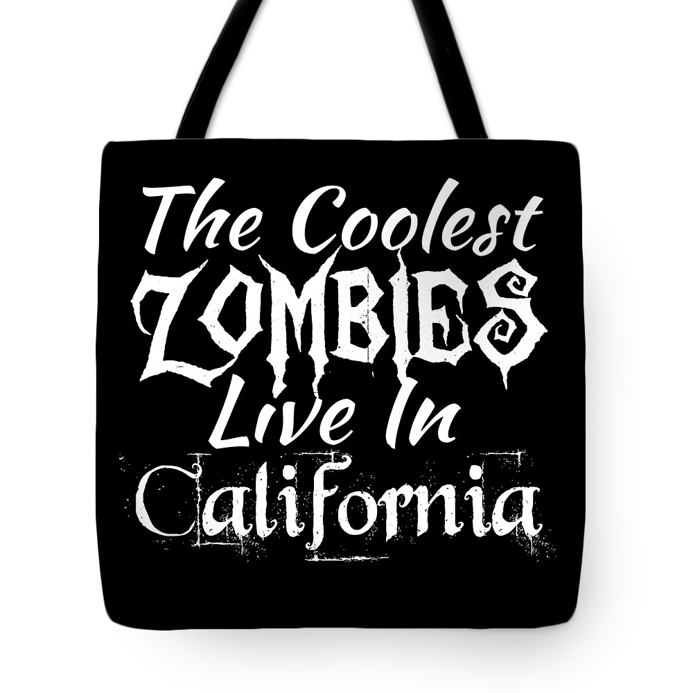 Boo Tote Bag featuring the digital art The Coolest Zombies Live In Acalifornias by Kaylin Watchorn