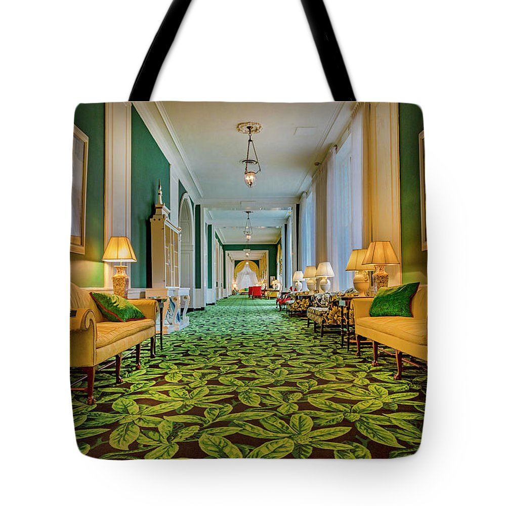 The Tote Bag featuring the photograph The Corridor by Betsy Knapp