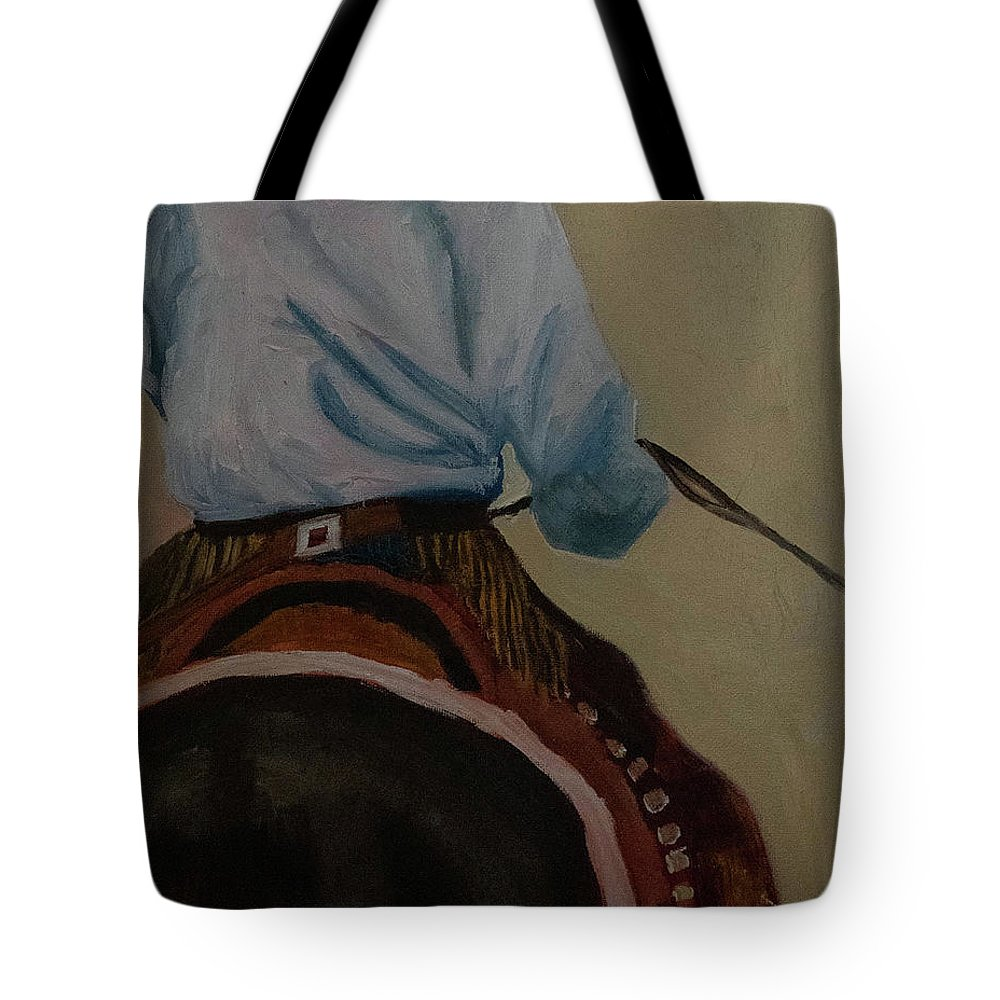 Colorado Landscape Painting Tote Bag featuring the painting The Drover by Fine Art Western Paintings