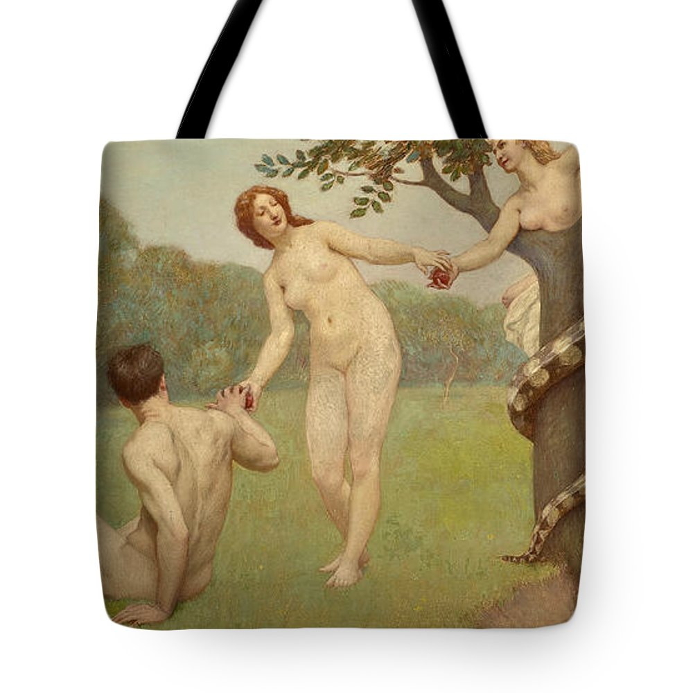 19th Century Art Tote Bag featuring the painting The Fall by Kenyon Cox