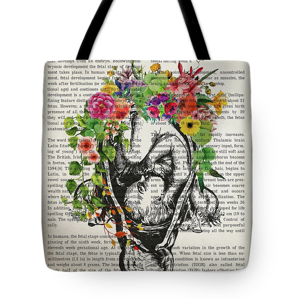 Fetus Tote Bag featuring the digital art The Fetus by Aged Pixel
