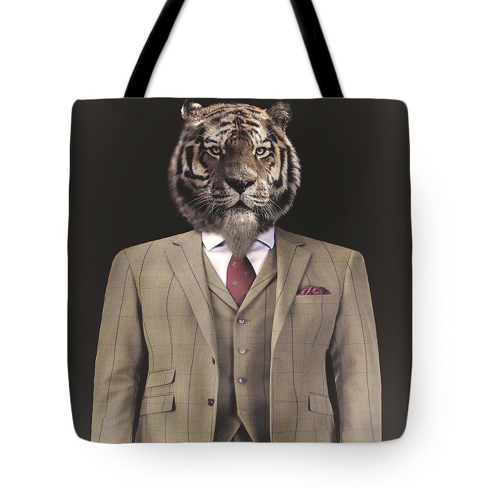 Tiger Tote Bag featuring the photograph The Gent by Paul Neville