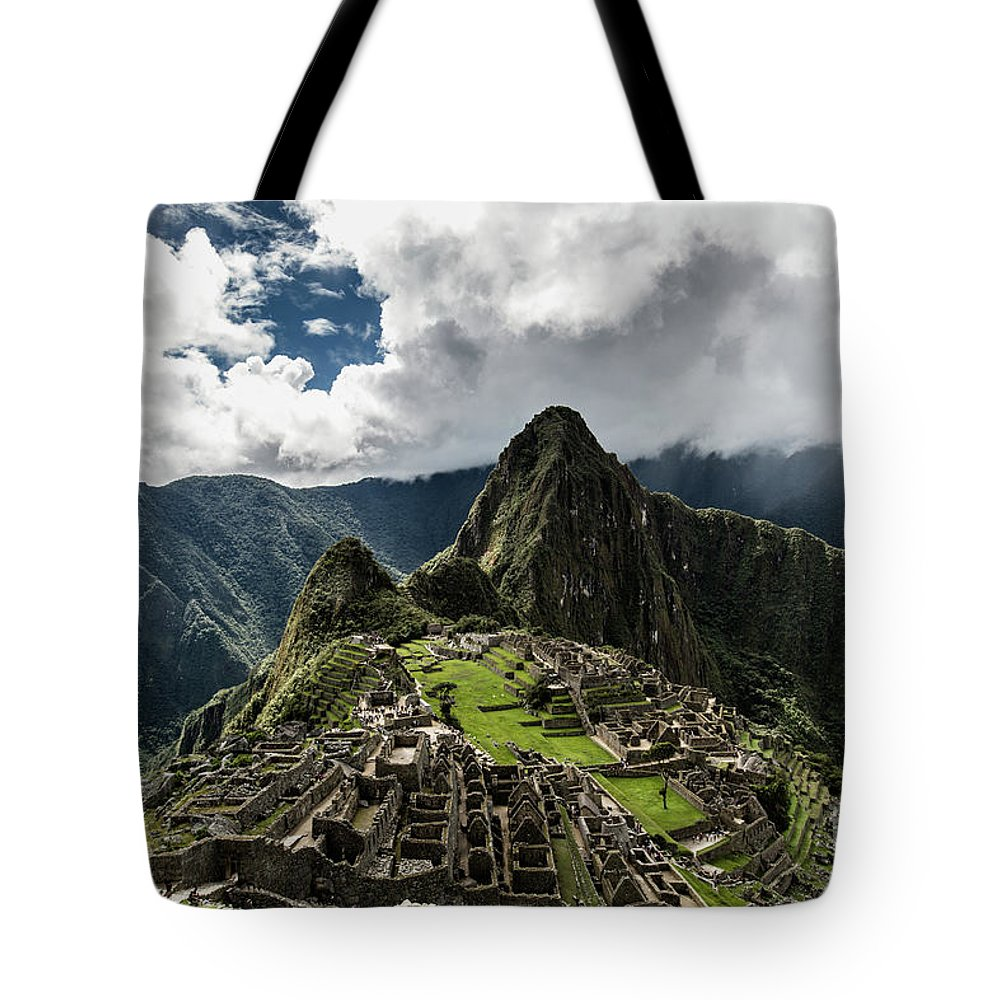 Scenics Tote Bag featuring the photograph The Inca Trail, Machu Picchu, Peru by Kevin Huang